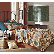 Elmwood Oversized Reversible Quilt, Sham, Pillows and Shower Curtain