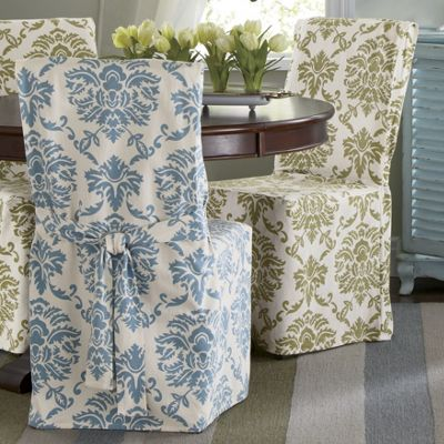 damask dining chair cover from through the country door