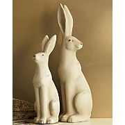 set of 2 rabbit figurines
