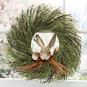 peek a boo bunny wreath