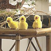 set of 3 fuzzy ducklings
