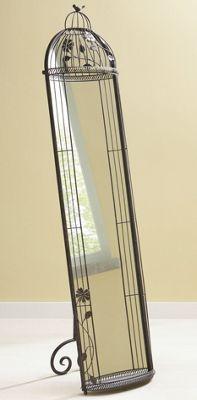 Birdcage Floor Mirror