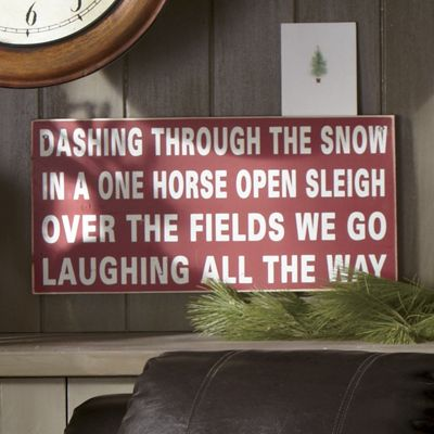 Dashing Through The Snow Sign From Through The Country
