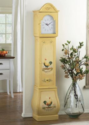 Rooster Grandfather Clock