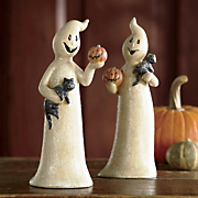set of 2 friendly ghosts