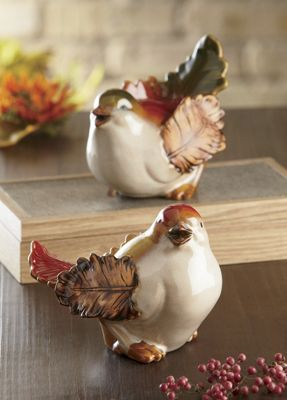 Set of 2 Autumn Leaf Birds