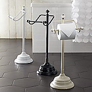 floor standing tissue paper holder