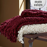 chenille snowball throw