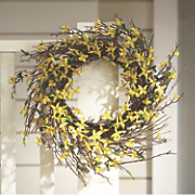 forsythia wreath