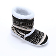 Muk Luks Fair Isle Sherpa Slipper Boot