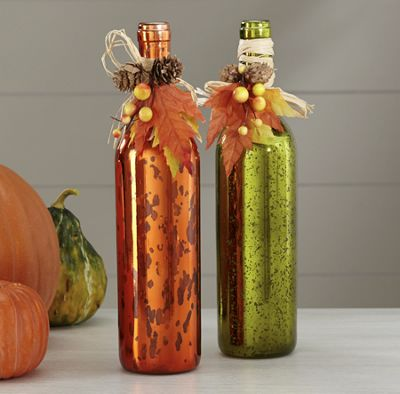 Set of 2 Autumn Bottles