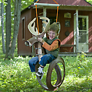 deer tire swing