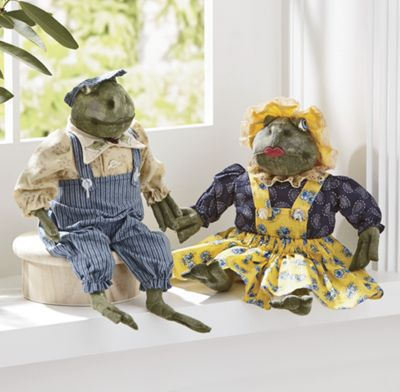 Claude and Maude Frog Figurines