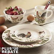 Paula Deen 16-Piece Southern Rooster Dinnerware Set