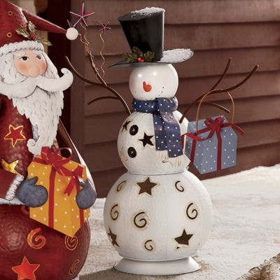 Lighted Holiday Bobble Head Snowman