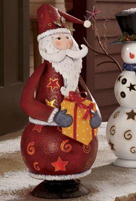 Lighted Holiday Bobble Head Santa