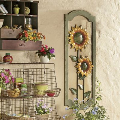 Sunflower Wall Art sunflower wall art from through the country door | 43972