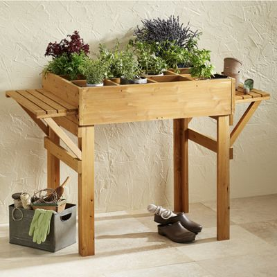 Potting Table with Shelves