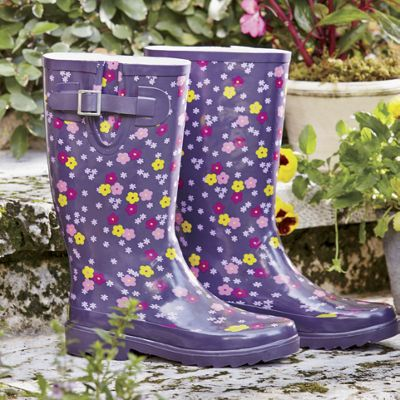 Flower Power Rain Boots