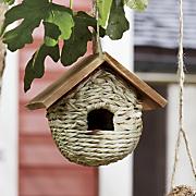 peaked roof birdhouse