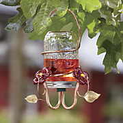 canning jar hummingbird feeder