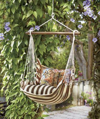 Chocolate Stripe Swing Chair Hammock