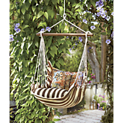 chocolate stripe swing chair hammock
