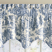 victoria park toile scalloped valance