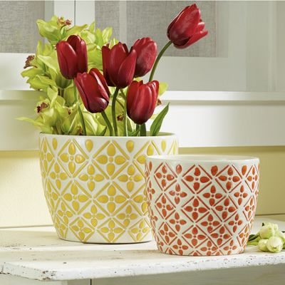 Set of 2 Kelly Bright Planters