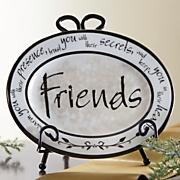 friends heartnote mini plate