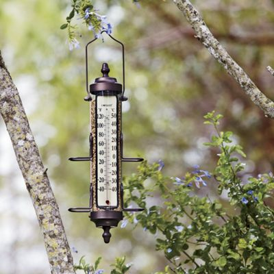 Bird Feeder with Outdoor Thermometer