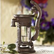 vintage pump rain gauge
