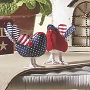 set of 2 patriotic birds