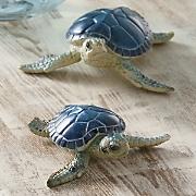 set of 2 sea turtles 2014