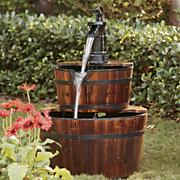 barrel fountain