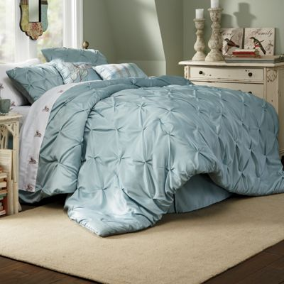 Comforter Set, Pintuck Oversized, Square Pillow and Decorative Pillow from Seventh Avenue ...