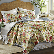 Westport Oversized Reversible Cotton Quilt, Sham, Pillows and Shower Curtain