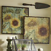 Set of 2 Sunflower Canvases