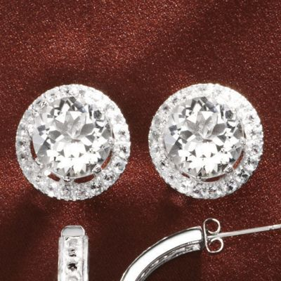 Round Frame Post Earrings