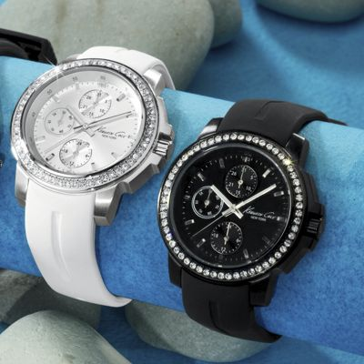 Round Crystal/Chrono Watch by Kenneth Cole