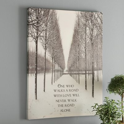 'The Road Walked with Love' Wall Art