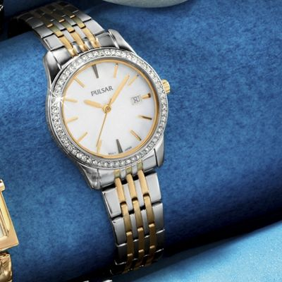 Women's Two-Tone Swarovski Crystal Watch by Pulsar