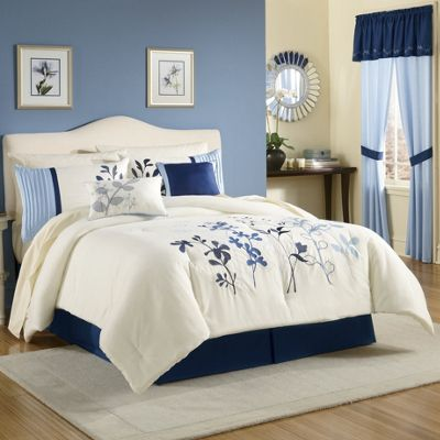 Tuilerette Embroidered Comforter Set Window Treatments From Montgomery Ward S245461