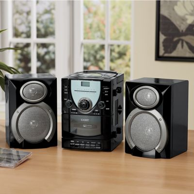 CD/Stereo System with Detachable Speakers by Coby
