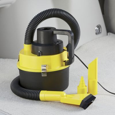 Compact Wet/Dry Car Vac with Inflator