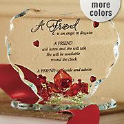 Glass Heart For Friend
