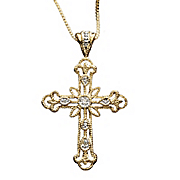 Diamond Cross Pendant A