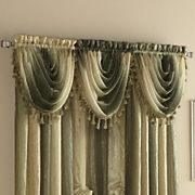 ombre semi sheer waterfall valance