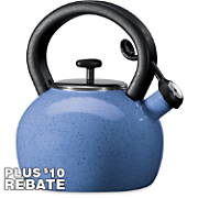whistling 2 qt tea kettle with 10 rebate by paula deen