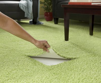 Set of 6 Self-Stick Shag Carpet Tiles